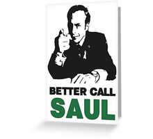 Better Call Saul (White) Greeting Card