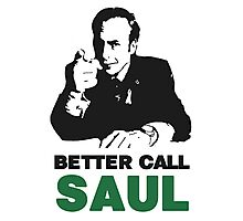Better Call Saul (White) Photographic Print