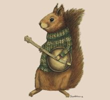 Squirrel with a banjo by sparklehen