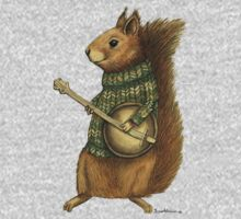 Squirrel with a banjo One Piece - Short Sleeve