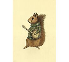 Squirrel with a banjo Photographic Print