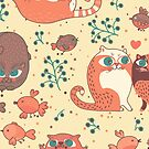 Cute Cats Pattern by Daniel Marques