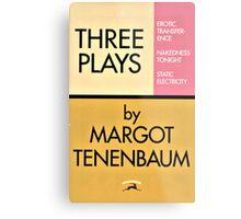 Three Plays by Margot Tenenbaum Metal Print
