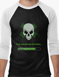 Skull Network Men's Baseball ¾ T-Shirt