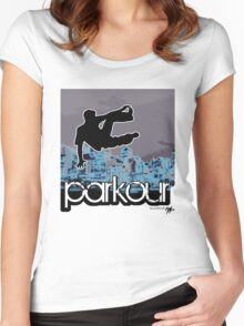 Parkour6_blue Women's Fitted Scoop T-Shirt