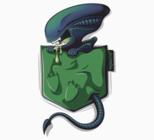 Xeno-pocket - STICKER by victorsbeard