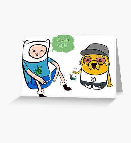 stoner jake and finn Greeting Card
