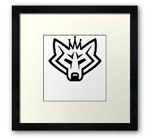 NSL Crown Wolf Framed Print
