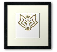 NSL Crown Gold Wolf Framed Print