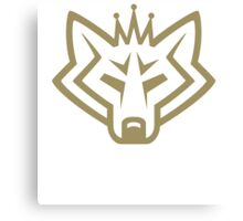 NSL Crown Gold Wolf Canvas Print