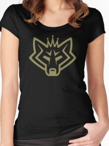NSL Crown Gold Wolf Women's Fitted Scoop T-Shirt