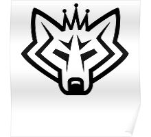 NSL Crown White Wolf Poster