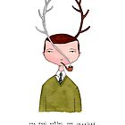 one real antler, one imagined by Marc Johns