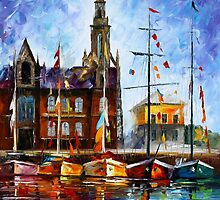 ANTWERP - BELGIUM by Leonid  Afremov