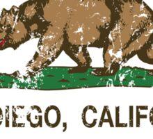 San Diego California Republic Distressed  Sticker