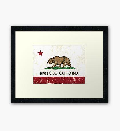 Riverside California Republic Distressed Framed Print