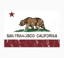 San Francisco California Republic Flag Distressed  Baby Tee