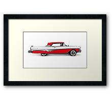 1958 Ford Fairlane 500 Skyliner art photo print Framed Print