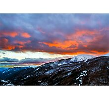 Red clouds Photographic Print