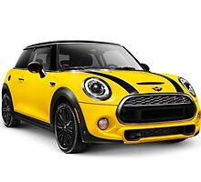 2014 Mini Cooper S hatchback car art photo print by ArtNudePhotos