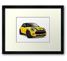 2014 Mini Cooper S hatchback car art photo print Framed Print