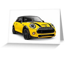 2014 Mini Cooper S hatchback car art photo print Greeting Card