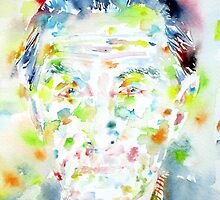 MARCEL DUCHAMP - watercolor portrait by lautir