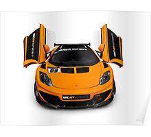 McLaren 12C GT Sprint supercar front open butterfly doors art photo print Poster