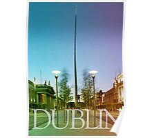 Dublin (green/orange gradient)  Poster