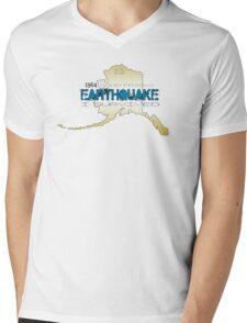 GOLDEN ALASKA EARTHQUAKE ~ I SURVIVED Mens V-Neck T-Shirt