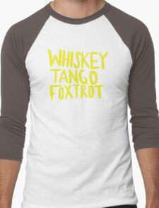 Whiskey Tango Foxtrot - Color Edition Men's Baseball ¾ T-Shirt