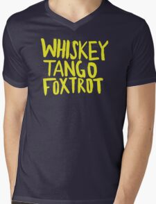 Whiskey Tango Foxtrot - Color Edition Mens V-Neck T-Shirt