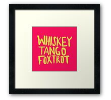 Whiskey Tango Foxtrot - Color Edition Framed Print