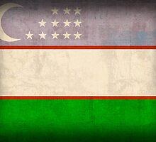 Uzbekistan Flag by flaglover
