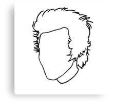 Harry Styles Outline Drawing Canvas Print