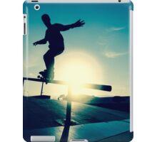 Skateboarder silhouette on a grind iPad Case/Skin