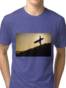 Surfer watching the waves Tri-blend T-Shirt