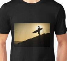 Surfer watching the waves Unisex T-Shirt