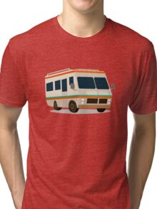 Vintage RV camper cartoon Tri-blend T-Shirt