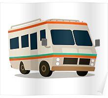 Vintage RV camper cartoon Poster