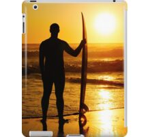 A surfer watching the waves iPad Case/Skin