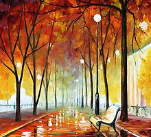 GOLDEN PARK by Leonid  Afremov