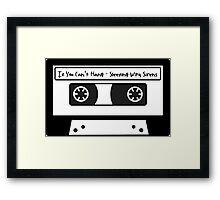 Sleeping With Sirens Cassette Tape Framed Print