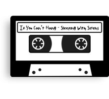 Sleeping With Sirens Cassette Tape Canvas Print