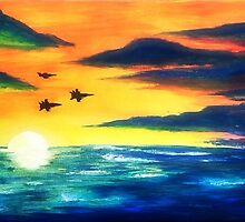 airforce sunset by Yungdee13
