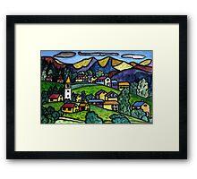 Swiss Folk Scape Framed Print