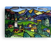Swiss Folk Scape Canvas Print