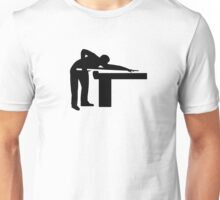 Billiards player pool table Unisex T-Shirt