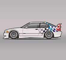 BMW 3 Series E36 M3 GTR Coupe Touring Car by Tom Mayer