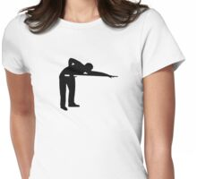 Billiards snooker player Womens Fitted T-Shirt